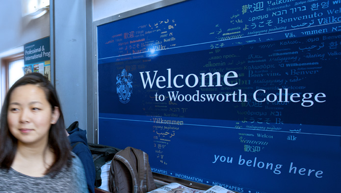 Woodsworth College Lobby Signage